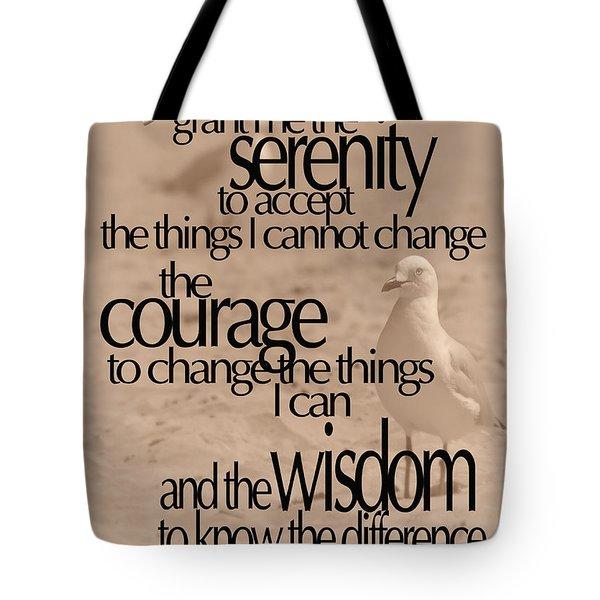 Serenity Prayer 04 Tote Bag by Vicki Ferrari