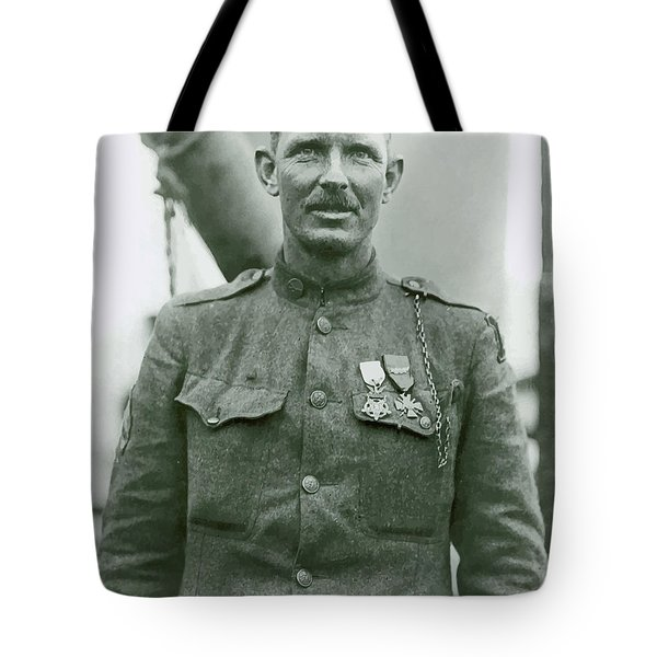 Sergeant Alvin York Tote Bag by War Is Hell Store