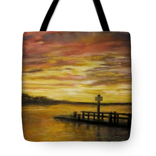 Sesuit Harbor at Sunset Tote Bag by Jack Skinner