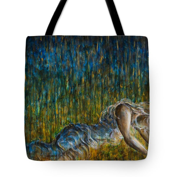 Set Fire To The Rain Tote Bag by Nik Helbig