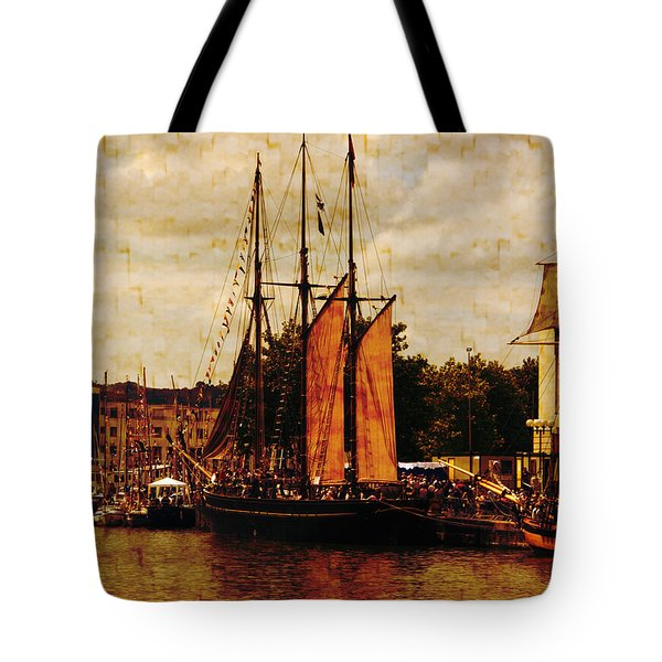 Setting Sail From Bristol Tote Bag by Brian Roscorla