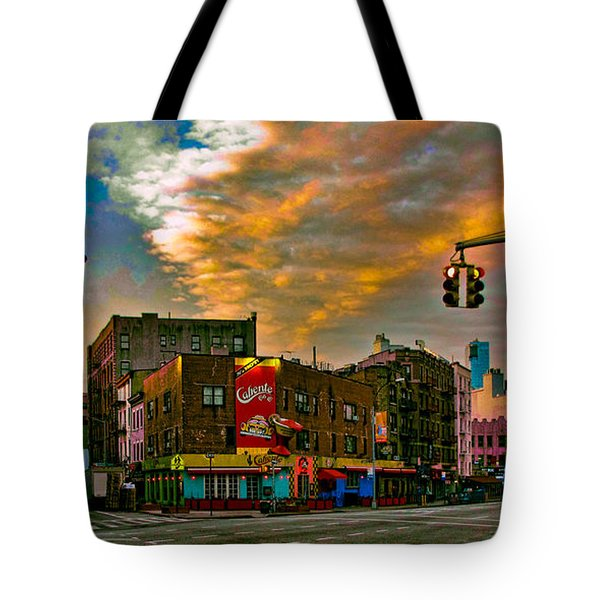 Seventh And Bleeker At Sunrise Nyc Tote Bag by Chris Lord