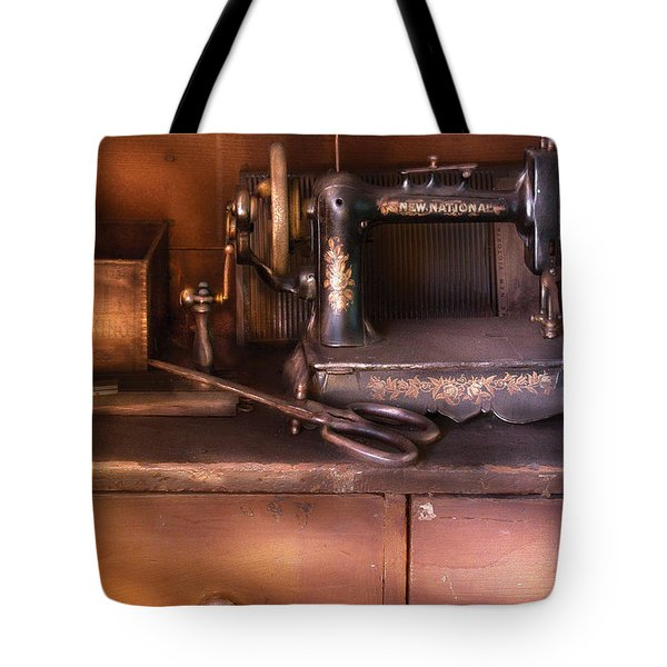 Sewing - New National Sewing Machine Tote Bag by Mike Savad
