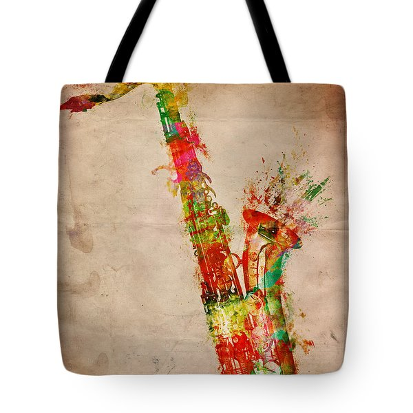 Sexy Saxaphone Tote Bag by Nikki Smith
