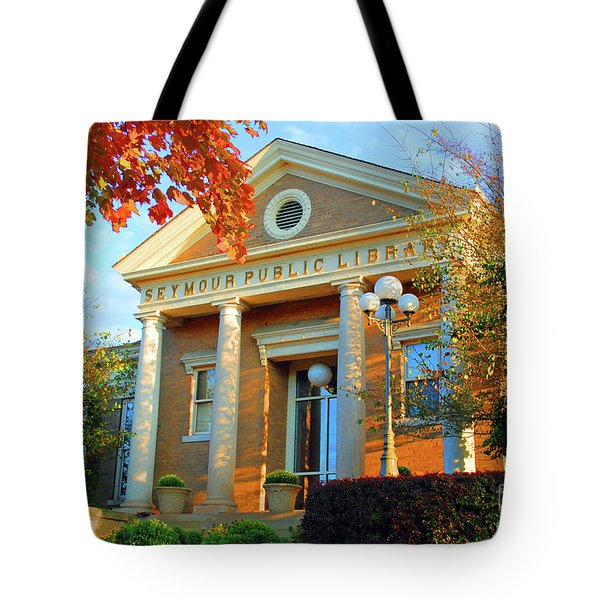 Seymour Public Library Tote Bag by Jost Houk