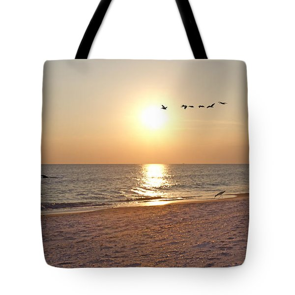 Shackleford Banks Sunset Tote Bag by Betsy Knapp