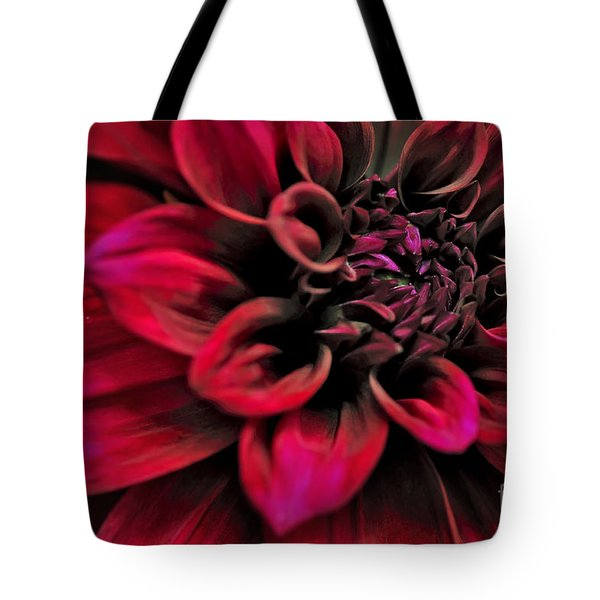Shades of Red - Dahlia Tote Bag by Kaye Menner