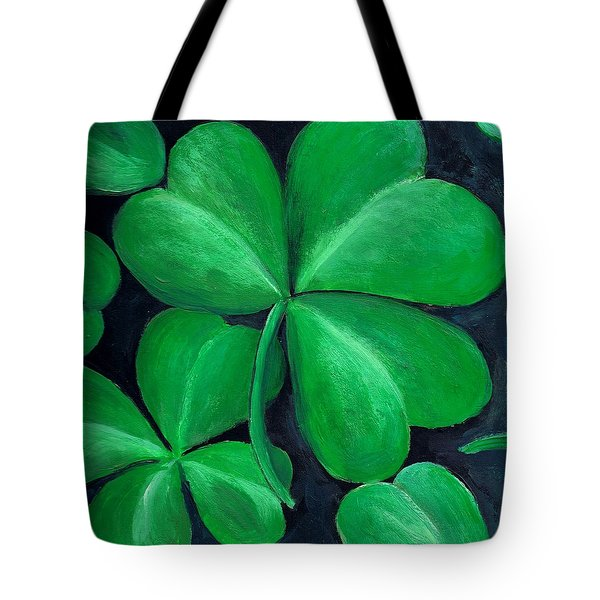 Shamrocks Tote Bag by Nancy Mueller