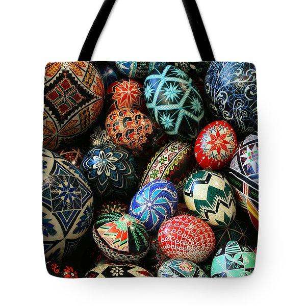 Shari's Ukrainian Eggs Tote Bag by E B Schmidt