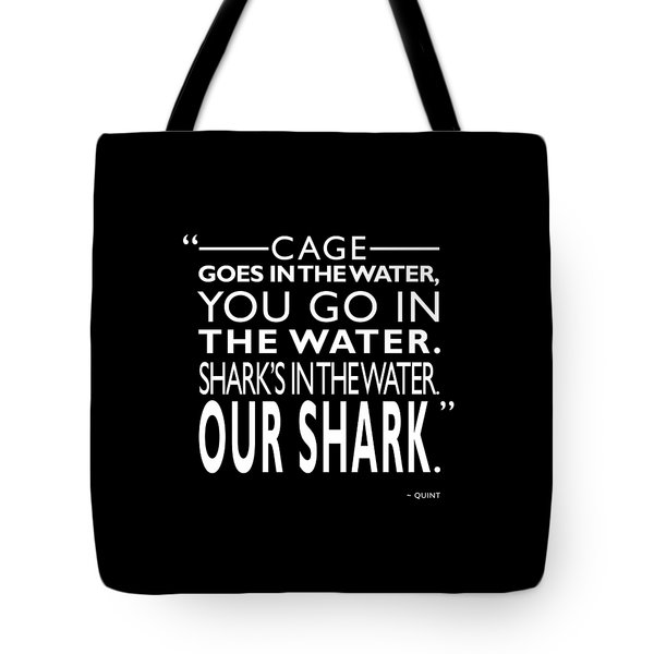 Sharks In The Water Tote Bag by Mark Rogan
