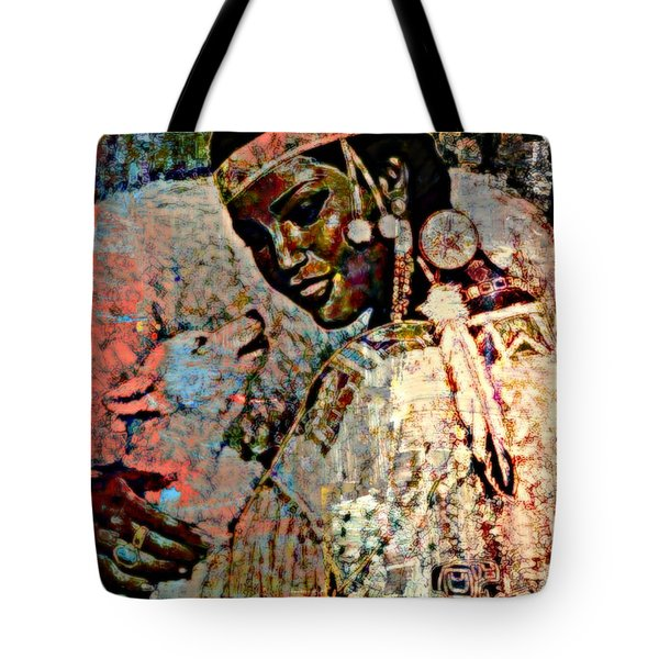 She Dances With Wolves Tote Bag by WBK
