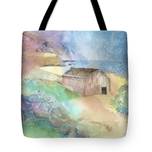 Shed By A Lake In Ireland Tote Bag by Arline Wagner