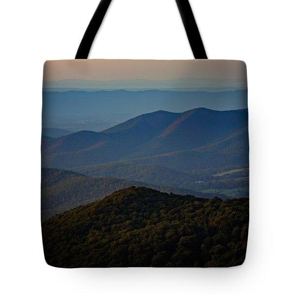 Shenandoah Valley At Sunset Tote Bag by Rick Berk