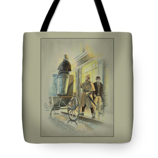 Sherlock Holmes At The Northumberland Tote Bag by Tony Hough
