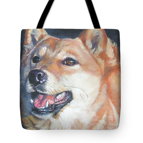 Shiba Inu Tote Bag by Lee Ann Shepard