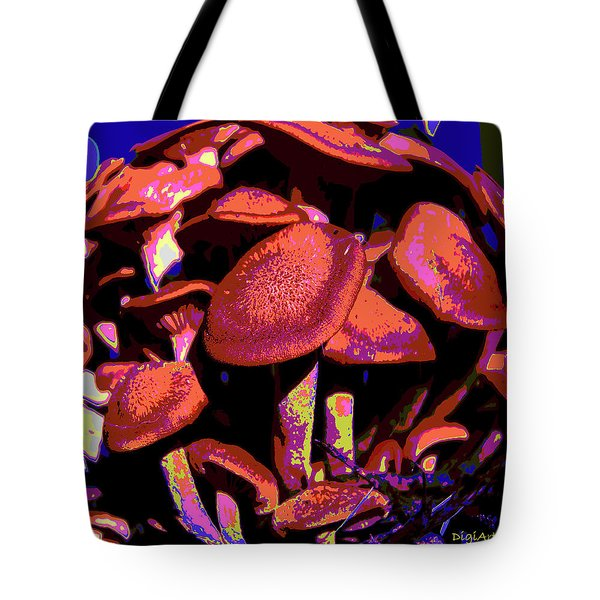 Shimmering Shrooms Tote Bag by DigiArt Diaries by Vicky B Fuller
