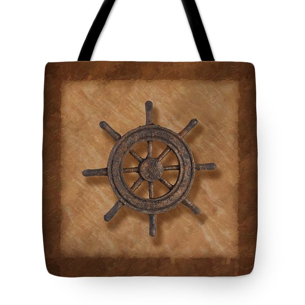 Ship's Wheel Tote Bag by Tom Mc Nemar