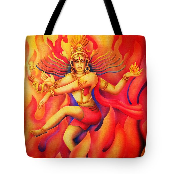 Shiva Nataraja Tote Bag by Vishwajyoti Mohrhoff