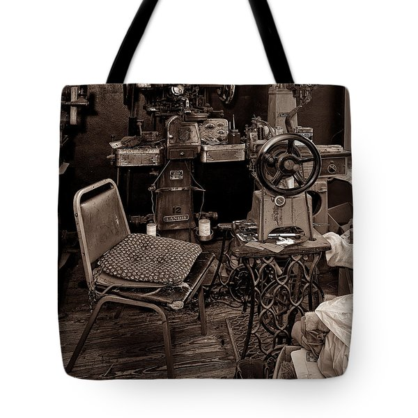 Shoe Hospital - Sepia Tote Bag by Christopher Holmes