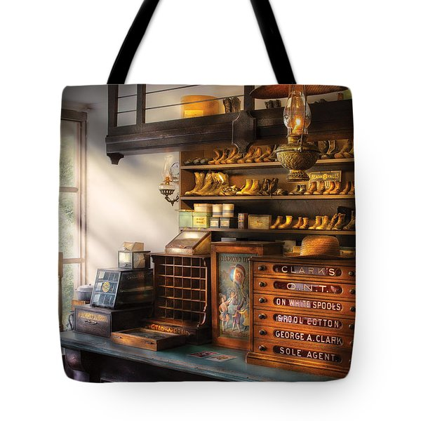 Shoe Maker - Shoes For Sale Tote Bag by Mike Savad