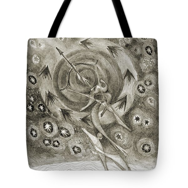Shooting Stars Tote Bag by Juel Grant