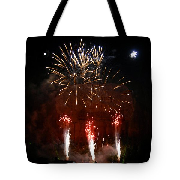 Shooting The Fireworks Tote Bag by David Lee Thompson