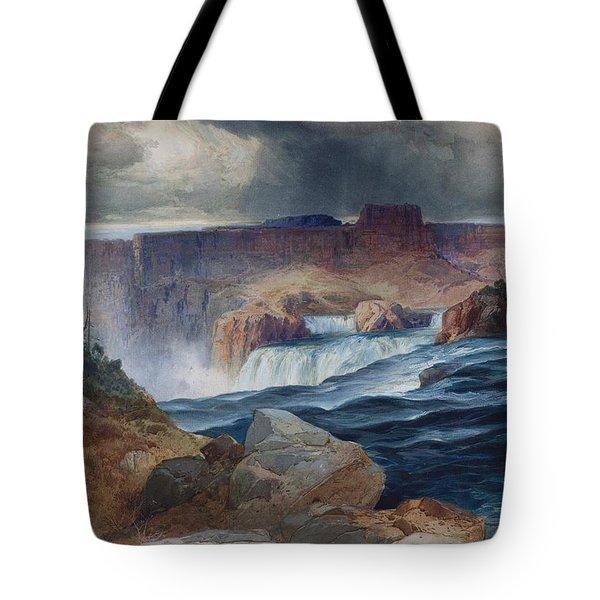 Shoshone Falls Idaho Tote Bag by Thomas Moran