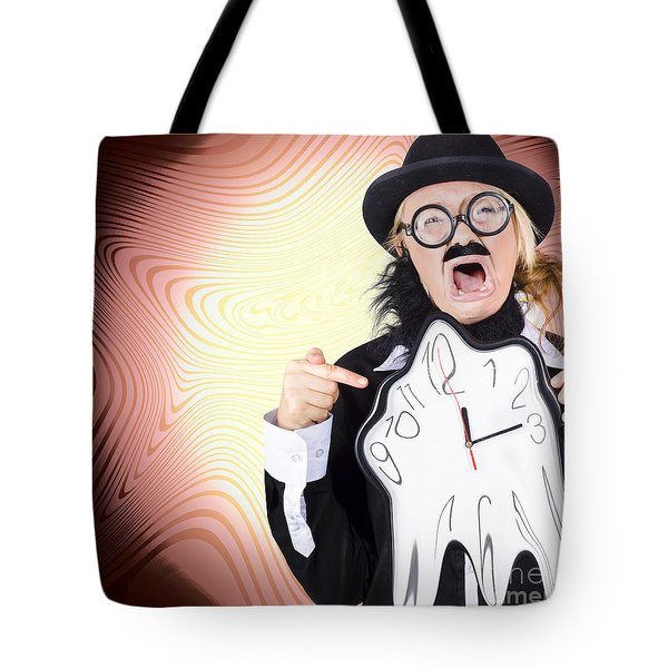 Shouting Businessman Stressed From Rush Hour Tote Bag by Jorgo Photography - Wall Art Gallery