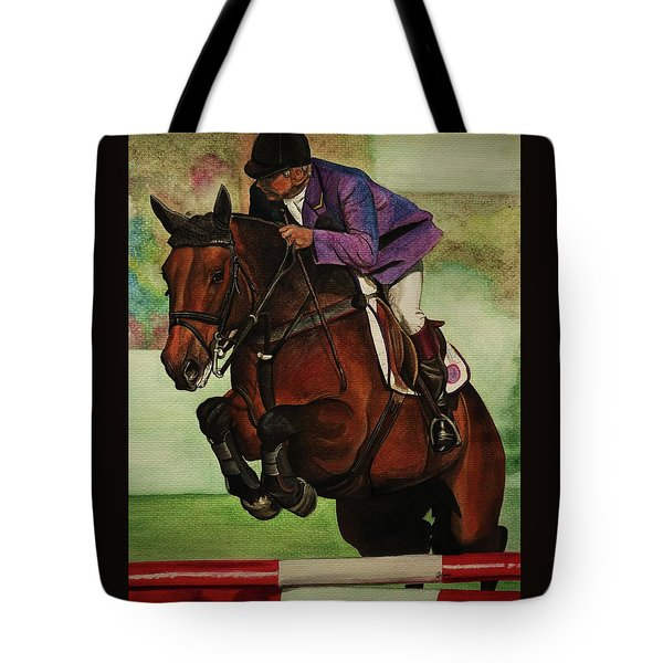Showjumping Tote Bag by Lucy Deane