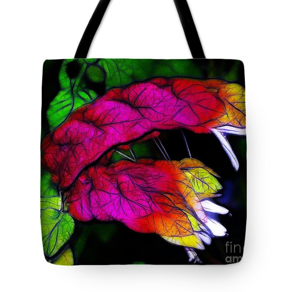 Shrimp Plant Tote Bag by Judi Bagwell