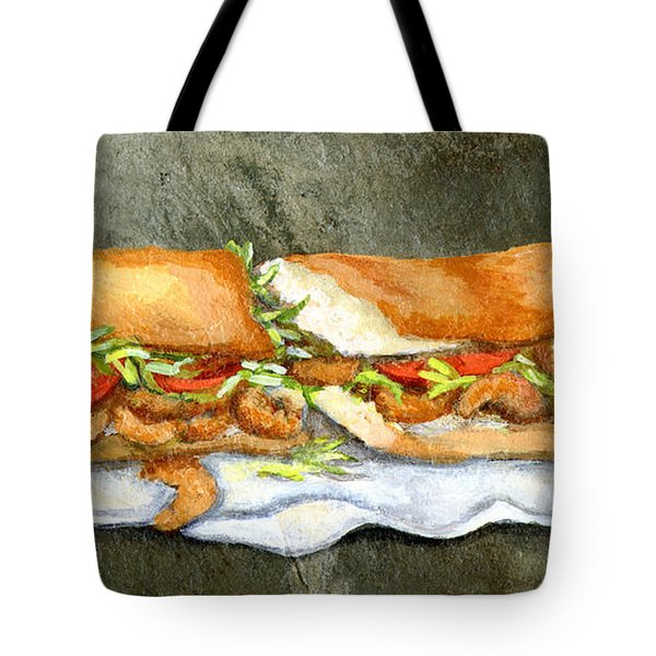 Shrimp Po Boy Tote Bag by Elaine Hodges