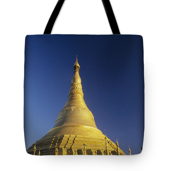 Shwedagon Paya Tote Bag by William Waterfall - Printscapes