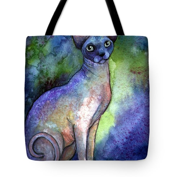 Shynx Cat 2 Painting Tote Bag by Svetlana Novikova