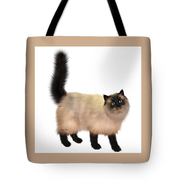 Siamese Cat Tote Bag by Corey Ford
