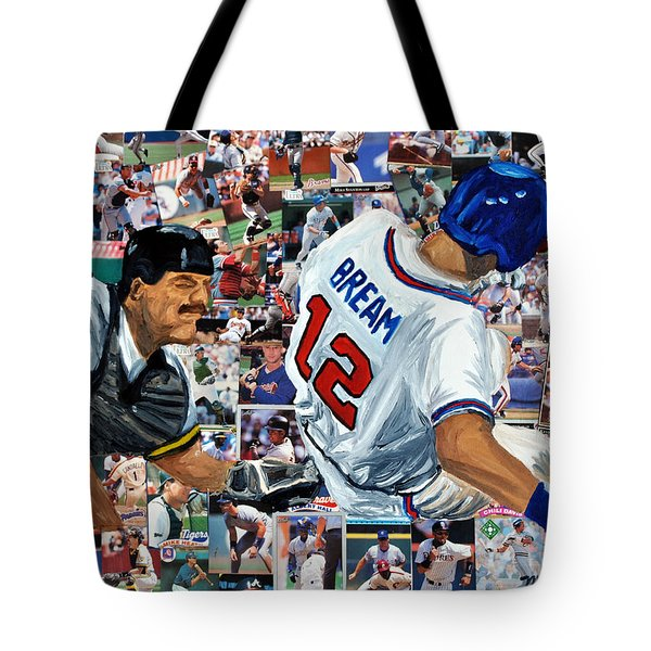 Sid Bream Slide Tote Bag by Michael Lee