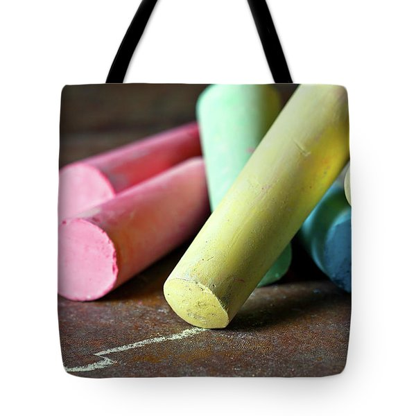 Sidewalk Chalk I Tote Bag by Tom Mc Nemar
