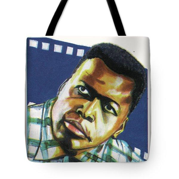 Sidney Poitier Tote Bag by Emmanuel Baliyanga