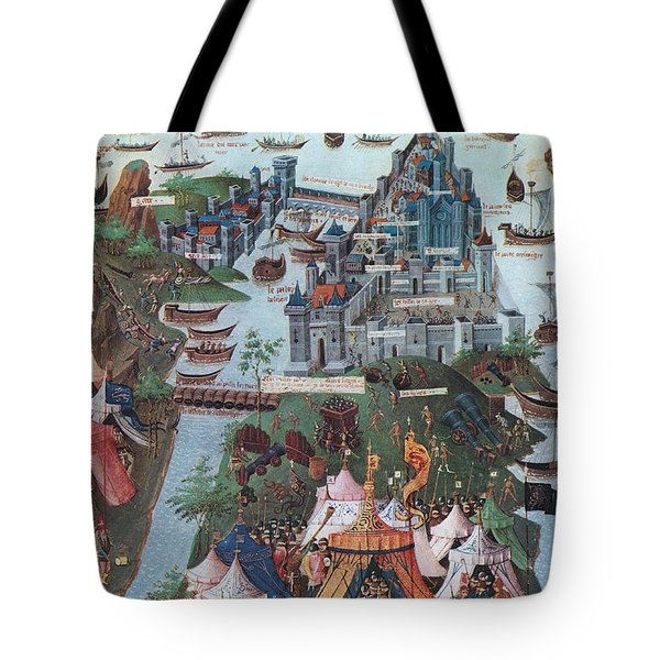 Siege Of Constantinople, 1453 Tote Bag by Photo Researchers