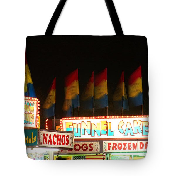 Signs Of Food At The Carnival Tote Bag by James BO  Insogna