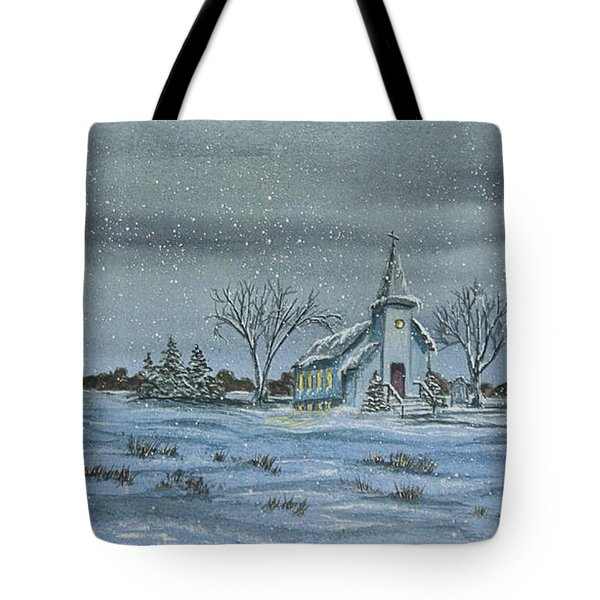 Silent Night Tote Bag by Charlotte Blanchard