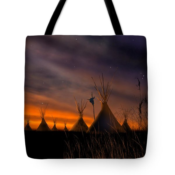 Silent Teepees Tote Bag by Paul Sachtleben