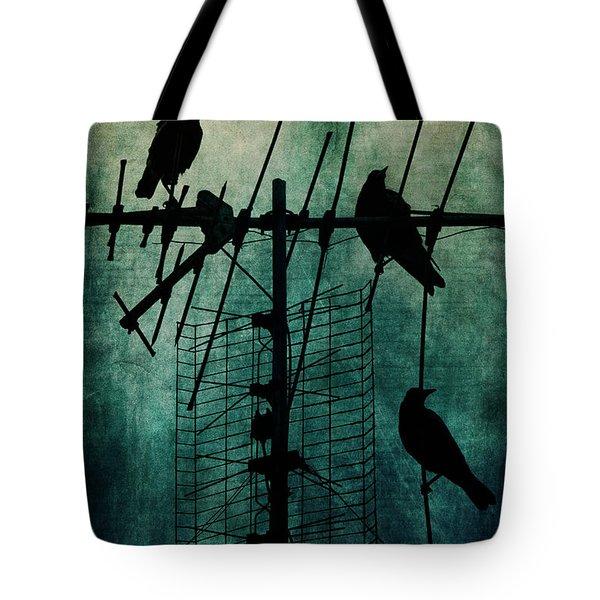 Silent Threats Tote Bag by Andrew Paranavitana