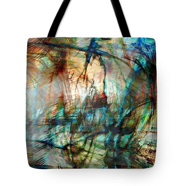 Silent Warrior Tote Bag by Linda Sannuti