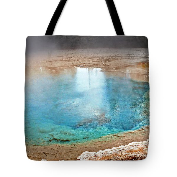 Silex Spring Fountain Paint Pot Yellowstone National Park Wy Tote Bag by Christine Till