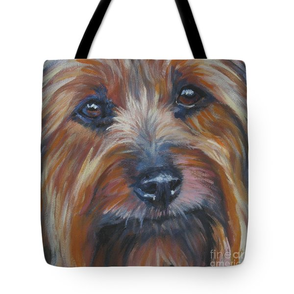 Silky Terrier Tote Bag by Lee Ann Shepard