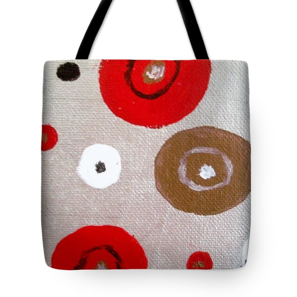 Silver Circle Abstract Tote Bag by Jamie Frier