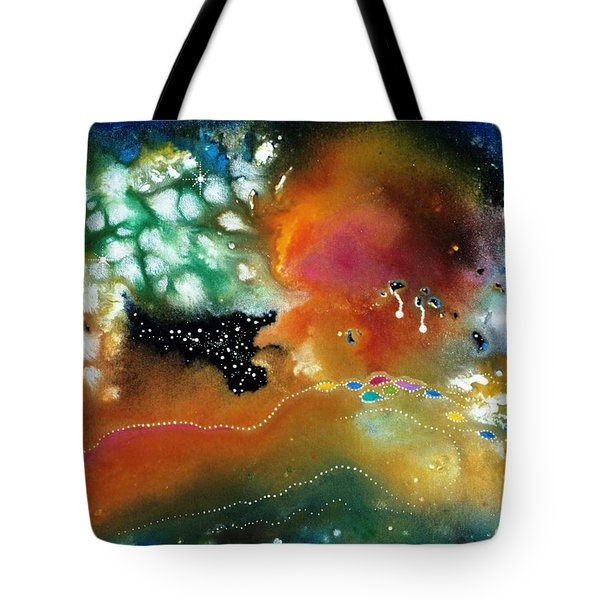 Silver Dreams Of The Desert Tote Bag by Lee Pantas