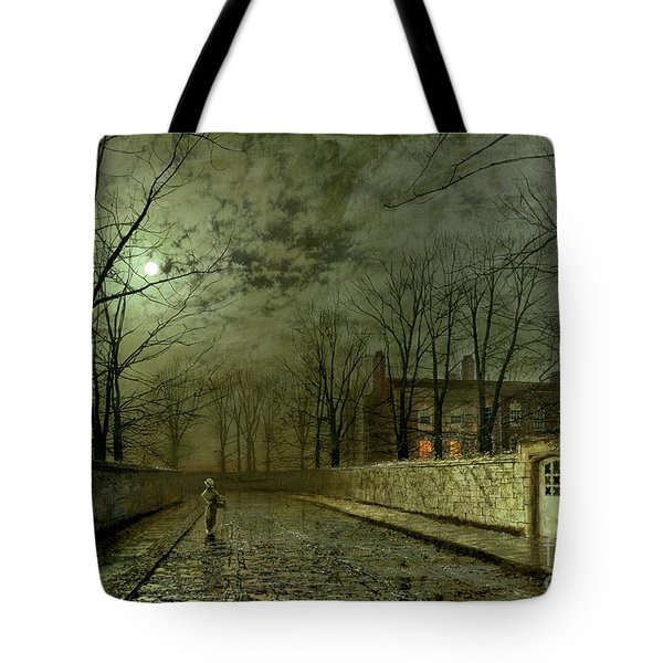 Silver Moonlight Tote Bag by John Atkinson Grimshaw