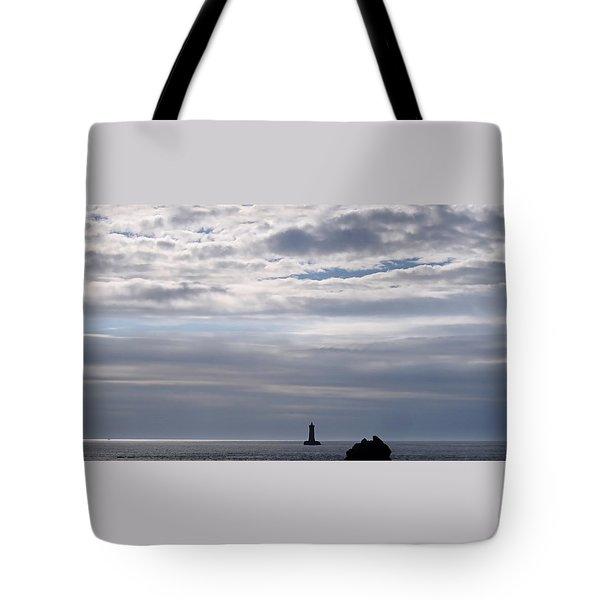 Silver On The Sea Tote Bag by Menega Sabidussi