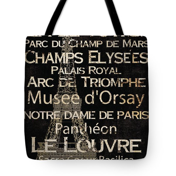 Simple Speak Paris Tote Bag by Grace Pullen